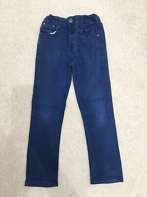 MATALAN Boys Denim Blue Adjustable Waist Jeans Slim Leg Age 9 Years