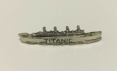 Titanic Ship Finely Handcrafted in Solid Pewter In UK Lapel Pin Badge