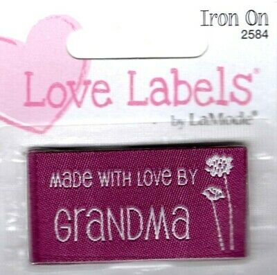 """BLUMENTHAL LANSING IRON ON LOVE LABELS /""""DESIGNED BY /_/_/_/_/_/_/_/_/_/_/"""" SET OF 4 PC"""