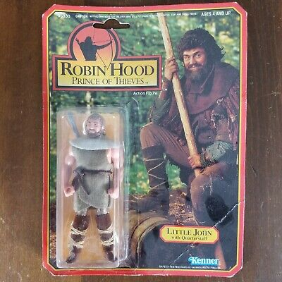 KENNER ROBIN HOOD PRINCE OF THIEVES LITTLE JOHN WITH QUARTERSTAFF FIGURE CARDED