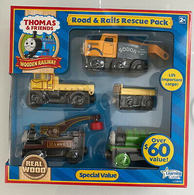 THOMAS /& FRIENDS WOODEN RAILWAY CURVED ROAD PACK 4 Pcs In Box Very RARE NIB