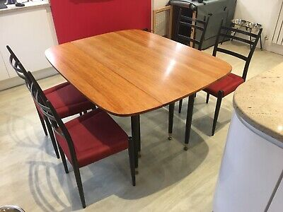 1950 S 60 S Mid Century Retro G Plan Wood Extendable Dining Table 4 Chairs 50 00 Picclick Uk