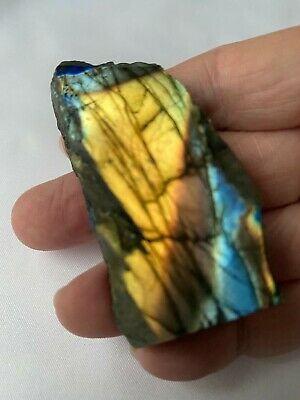 Naturally Rough on the Other 2.5 x 2 Labradorite Slab Polished on One Side