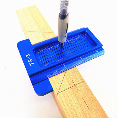 NEW POCKET T-SQUARES Measuring Woodworking T-Type Scribe Mark Measurement Ruler