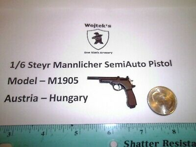 1//6 WWI WWII Homemade Steyr-Hahn M1912 semi automatic pistol  Austro-Hungarian