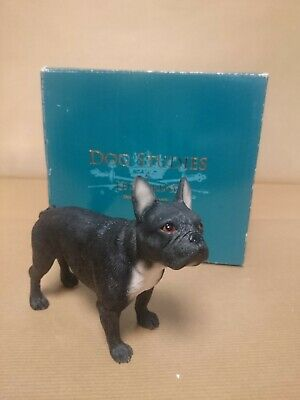 "XL French Bulldog Ornament Gloss White Black Hat /& Bow Tie Gift 16.5/""//42cm"