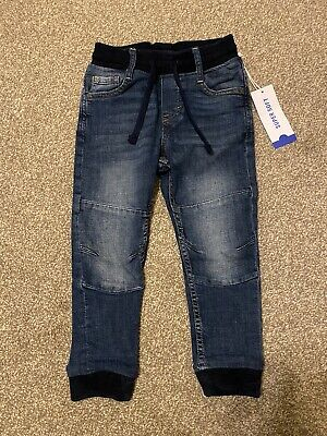 H&M Boys Blue Super Soft Pull On Jeans Joggers 4-5 Years