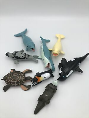 Bath Toys,24PCS Sea Animal with Inflatable Water Mat for 24pcs Sea Animals