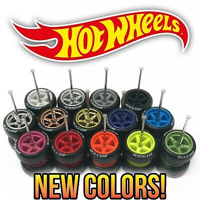5 conjuntos de 6 Spoke Eixo Longo Ouro TE37 Fit 1:64 Hot Wheels Pneus De Borracha Novo 2020