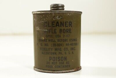 Full Sealed Can Co. Banner Mfg US WWII 6oz Rifle Bore Cleaner
