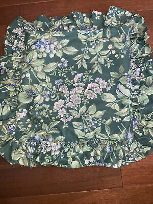 """Laura Ashley Bramble Berry Square Decorative Toss Throw Bed Pillow 12/"""" x 12/""""mint"""