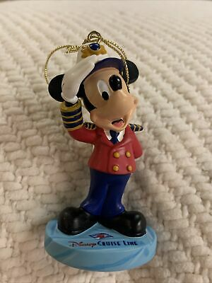 """Disney Cruise Line /"""" Mickey Icon Candy Cane Stripe/"""" Christmas Ornament NEW"""
