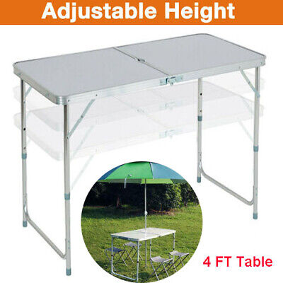 4FT Portable Folding Trestle Table Heavy Duty Camping Garden Party Picnic Table