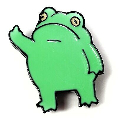 F Off Frog Monday Meme - Enamel Pin - Middle Finger Cute Attitude Frogs New!