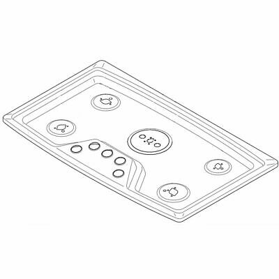 Genuine OEM part Stainless Frigidaire 808957902 Cooktop Main Top Assembly