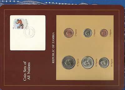Coin Sets of All Nations Zambia 1968 - 1983 UNC 20 Ngwee 1968 18 JUL 84
