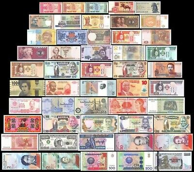 UNC  Lot of 7  Different Foreign PAPER MONEY BANKNOTES WORLD CURRENCY M7