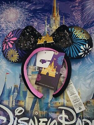 MINNIE MOUSE MAIN ATTRACTION DECEMBER FIREWORKS EAR HEADBAND IN HAND NEW W// TAGS