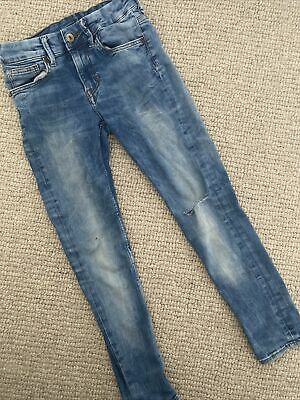 9-10 Years Jeans H&M Boys Light Blue Denim Super Skinny Fit Ripped Knee