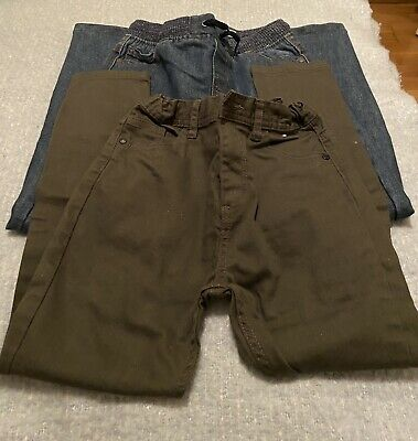Primark Boys Khaki & Denim Jeans 2 X Pairs Age 8-9 Years