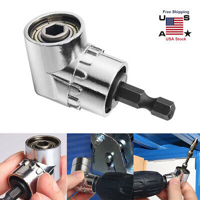 105° Degree Right Angle Drill Socket Adapter Flexible Shaft Extension Bit Driver