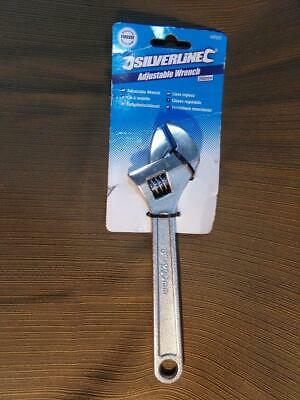 """Silverline Adjustable Wrench Crescent Type 8"""" Forged Steel 200mm 7/8"""" Jaw NWT"""