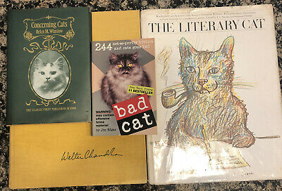 The 4 Classic Books about Cats Winslow Chandler Literary Cat & Bad Cat see notes
