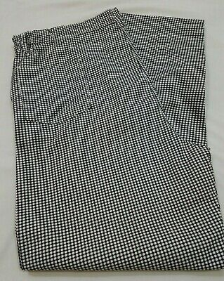 PST Chef Pants Black/White Checkered Pattern with defect 46 X 31
