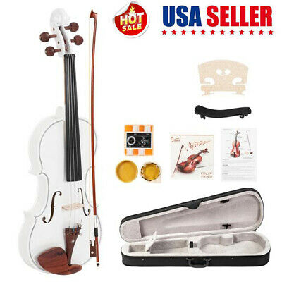 Glarry 4/4 Full Size Violin Maple Wood Fiddle w/ Turner Case Bow Rosin String US