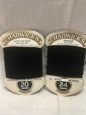Vintage Chadwick's Mending Wool Color 99 20 yards and 24 yards
