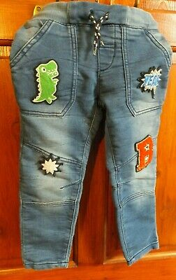Boys jeans, Nutmeg, age 3-4 years, elasticated & draw string waist