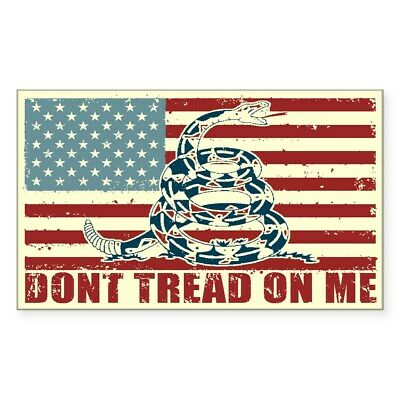 CafePress Don't Tread On Me Rectangle Bumper Sticker Car Decal (439197508)