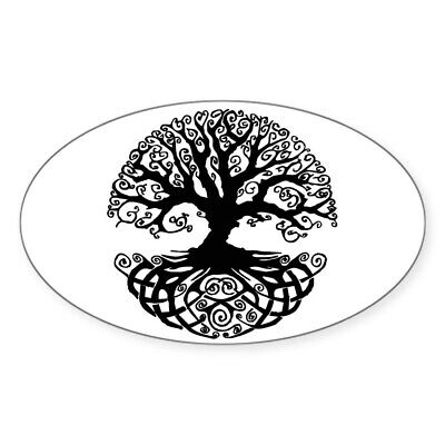 CafePress Tree Of Life Oval Bumper Sticker, Euro Oval Car Decal (709630094)