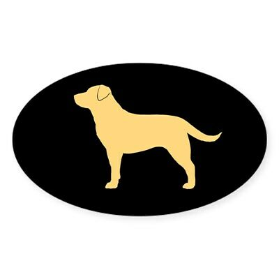 CafePress Yellow Lab Oval Bumper Sticker, Euro Oval Car Decal (718373956)