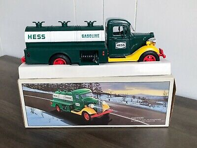 1985 Amerada HESS Truck Tanker Bank First Toy Bank with Box