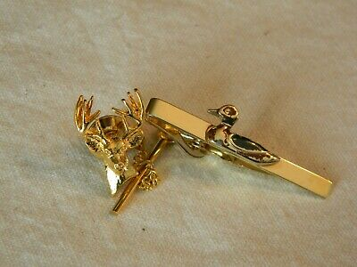 Silver or Gold Red-Tailed Hawk Raptor Portrait Square Tie Bar Clip Clasp Tack