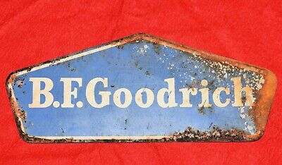Vintage Metal Sign B.F. GOODRICH Service Station Tire Gas Oil Wall Art Man Cave