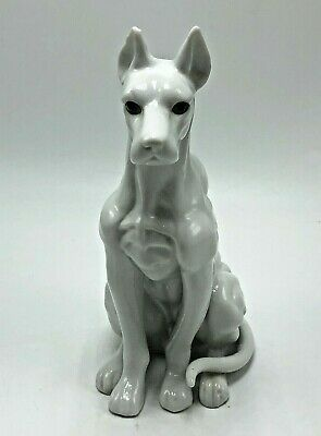 Vintage GREAT DANE Dog Collectible Figurine white