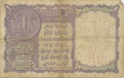 D4231  Currency   1957 Goverment Of India One Rupee