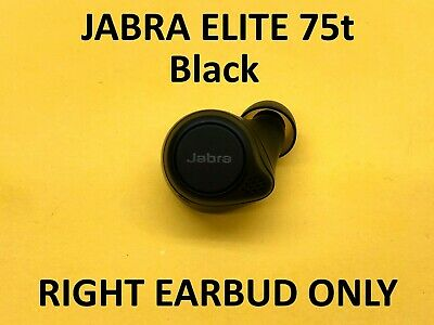 Jabra Elite 75t Replacement RIGHT Earbud ONLY - Black