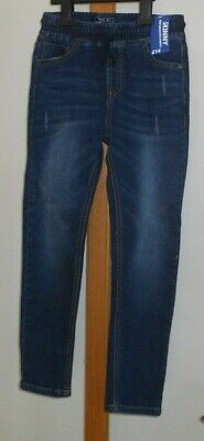 NEXT - Boys Dark Blue Pull on Skinny Jeans - Size 9 Years NEW