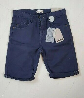 Zara Boys Navy Shorts Age 11-12 Years Brand New With Tags