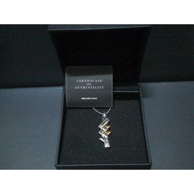 OFFICIAL FINAL FANTASY XIII 13 LIGHTNING SILVER PENDANT With BOX Very Good F/S