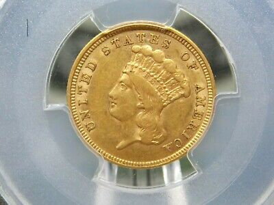 1854 $3 Gold Princess PCGS AU53 East Coast Coin & Collectables, Inc.