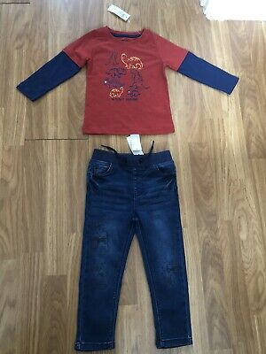 BNWTS. BOYS BUNDLE. AGE 2/3 YEARS. M&Co. STRETCH SKINNY JEANS & LONG SLEEVE TOP