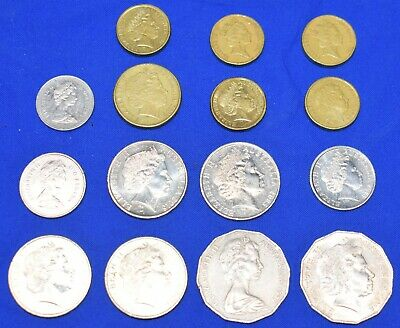 15 COINS from Australia Lot of 15 Australian Coins Money