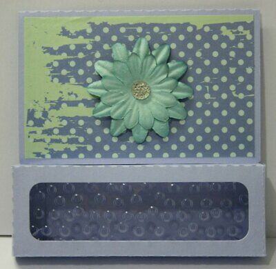 Handmade gift box Card  Thank you  any occasion window 3