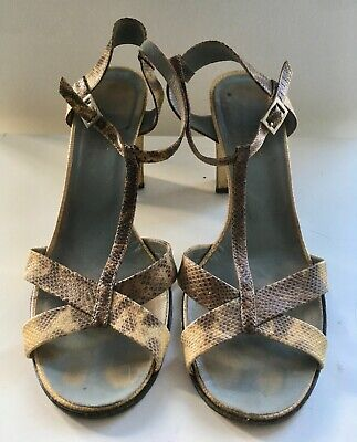 Gucci woman's vintage Snake slingback shoes. Size 38.5  Made in Italy