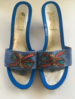Vintage  woman's mules shoes. Size  7.5 uk.. 40 eu.