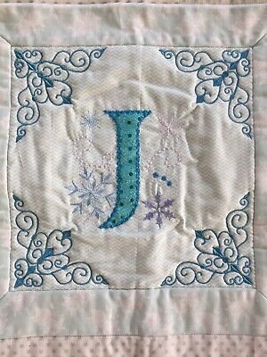 Novelty Gift ~ Machine Quilted Cushion Cover - Initial J
